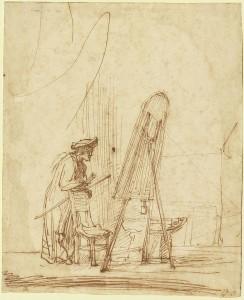 Rembrandt - an artist in his studio