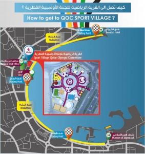 Map qatar olympic