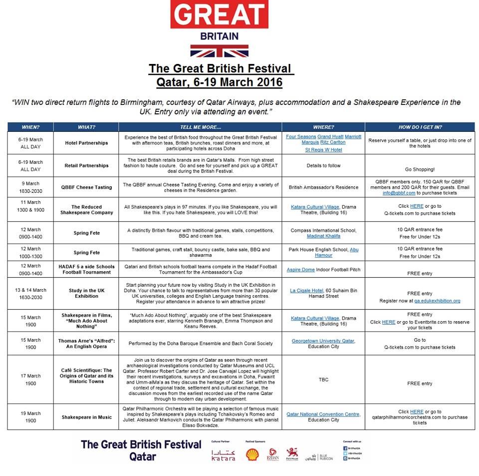 programme festival GB