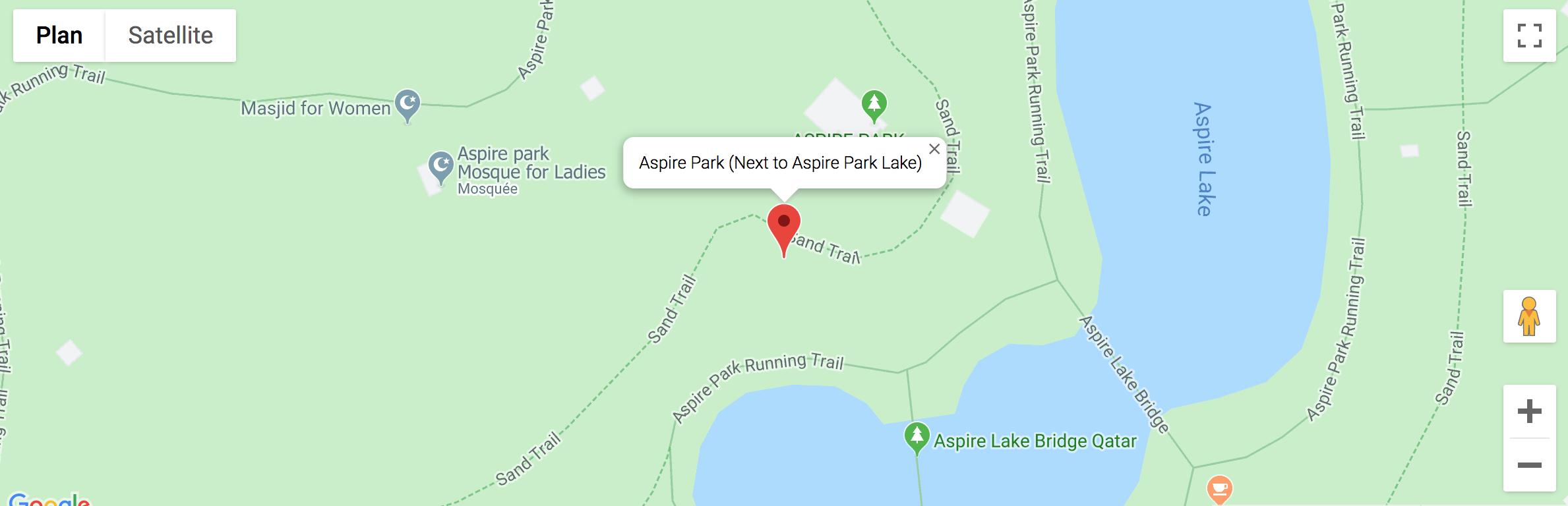 Plan d'Aspire Park pour se rendre dans la zone du festival